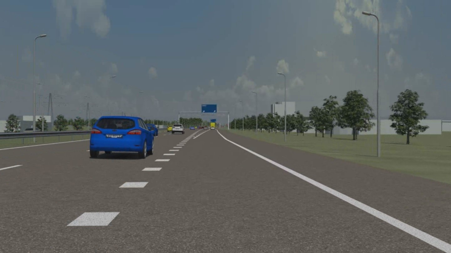 Highway Junction Design and Testing on the A6 in the Netherlands