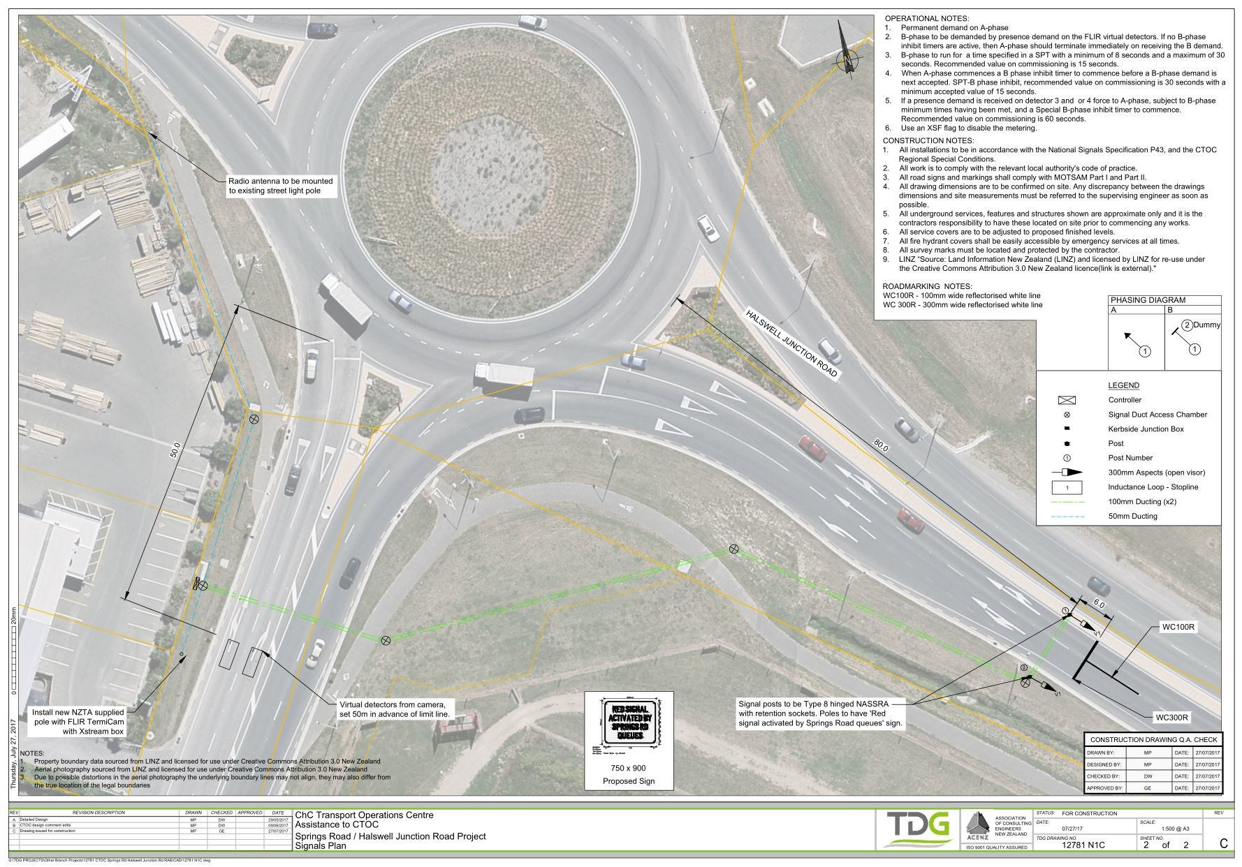 South Islands First Roundabout Meter in Christchurch, New Zealand