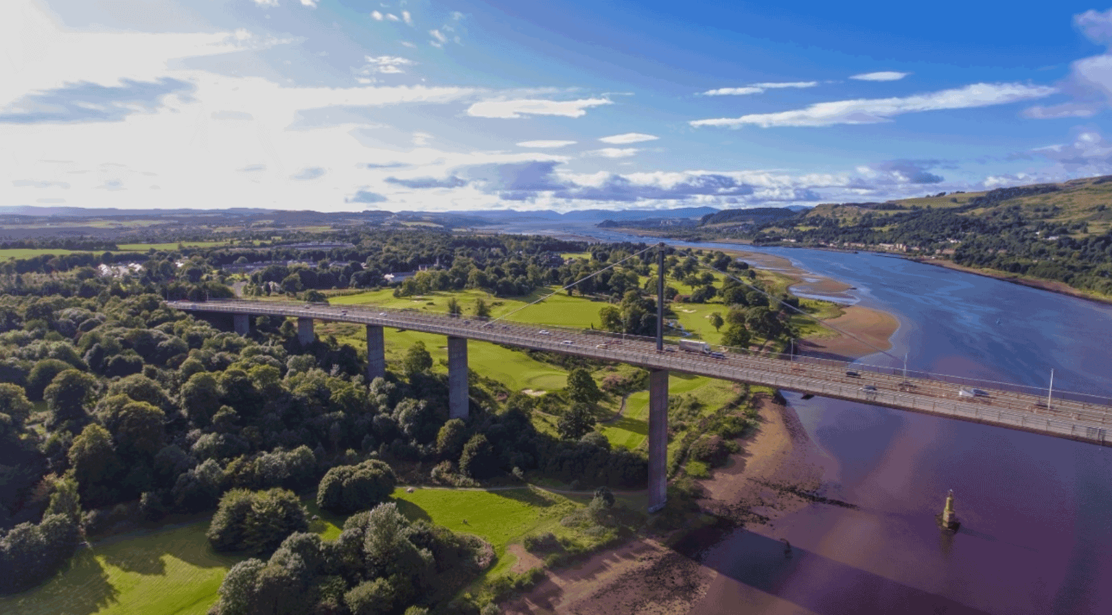 Paramics Model predicts journey time delays for vital roadworks on the Erskine Bridge in Scotland